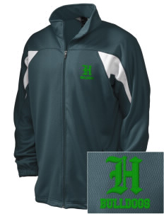 Hoover Elementary School Bulldogs Embroidered Holloway Men's Full-Zip Track Jacket