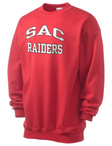 Sac Community High School Indians Men's 7.8 oz Lightweight Crewneck Sweatshirt