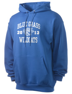 Blue Grass Elementary School Wildcats Men's 7.8 oz Lightweight Hooded Sweatshirt