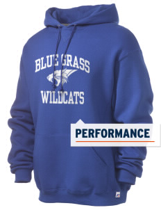Blue Grass Elementary School Wildcats Russell Men's Dri-Power Hooded Sweatshirt