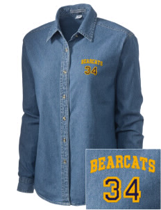 North Butler High School Bearcats Embroidered Women's Denim Long Sleeve