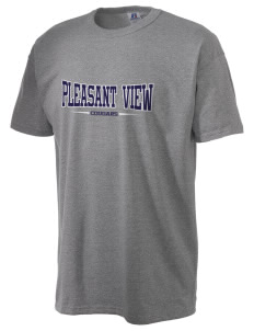 Pleasant View Elementary School Cougars  Russell Men's NuBlend T-Shirt