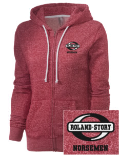 Roland-Story High School Norsemen Embroidered Women's Marled Full-Zip Hooded Sweatshirt