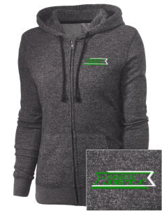James Elementary School Jets Embroidered Women's Marled Full-Zip Hooded Sweatshirt