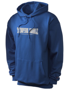 Thompson Middle Elementary School Bison Champion Men's Hooded Sweatshirt