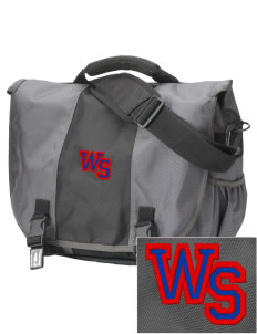 West Side School Vikings  Embroidered Montezuma Messenger Bag
