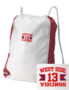 West Side School Vikings Embroidered Holloway Home and Away Cinch Bag