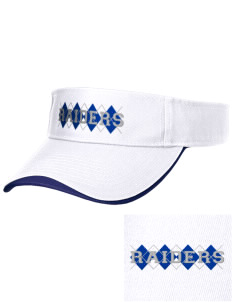 Washington Elementary School Raiders Embroidered Binding Visor