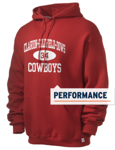 Clarion-Goldfield Elementary School Cowboys Russell Men's Dri-Power Hooded Sweatshirt