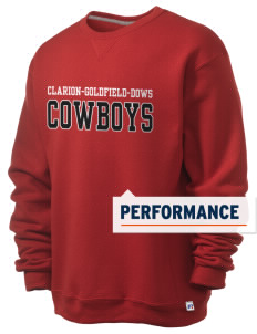 Clarion-Goldfield Elementary School Cowboys  Russell Men's Dri-Power Crewneck Sweatshirt