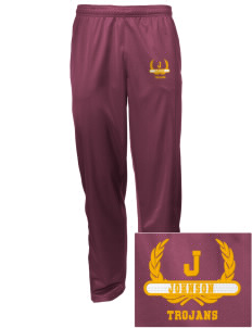 Johnson Elementary School Trojans Embroidered Men's Tricot Track Pants