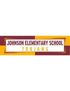"Johnson Elementary School Trojans Bumper Sticker 11"" x 3"""