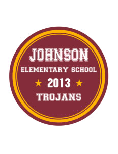 Johnson Elementary School Trojans Sticker