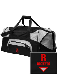 Rineyville Elementary School Rockets Embroidered Colorblock Duffel Bag
