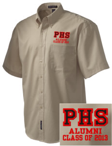 Portsmouth High School Patriots Embroidered Men's Easy Care Shirt