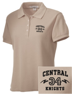 Central High School Knights Embroidered Women's Performance Plus Pique Polo