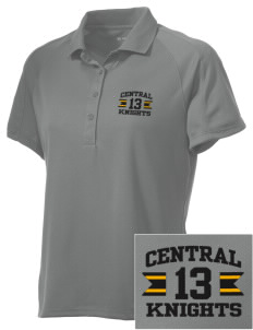 Central High School Knights Embroidered Women's Polytech Mesh Insert Polo