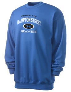 Hampton Street Elementary School Beavers Men's 7.8 oz Lightweight Crewneck Sweatshirt