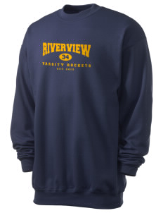 Riverview Elementary School Rockets Men's 7.8 oz Lightweight Crewneck Sweatshirt