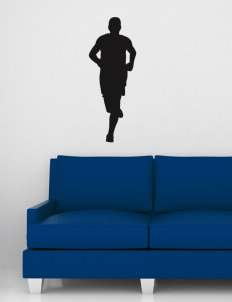 "Mitchell Middle School Cornelius Wall Silhouette Decal 20"" x 32"""