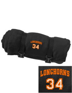 Maurine Elementary School Longhorns Embroidered Fleece Blanket with Strap