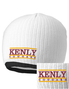 Kenly Elementary School Cougars Embroidered Champion Striped Knit Beanie