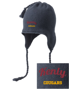 Kenly Elementary School Cougars Embroidered Knit Hat with Earflaps