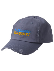 Alexander Elementary School Wildcats Embroidered Distressed Cap