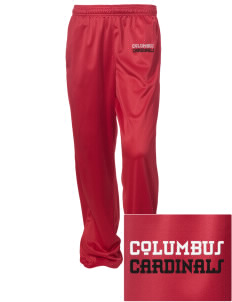 Columbus Elementary School Cardinals Embroidered Women's Tricot Track Pants