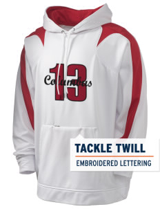Columbus Elementary School Cardinals Holloway Men's Sports Fleece Hooded Sweatshirt with Tackle Twill