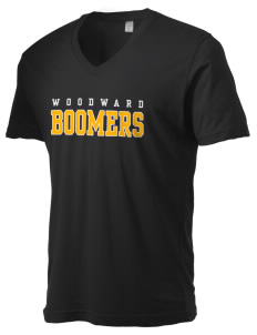 Woodward Senior High School Boomers Alternative Men's 3.7 oz Basic V-Neck T-Shirt