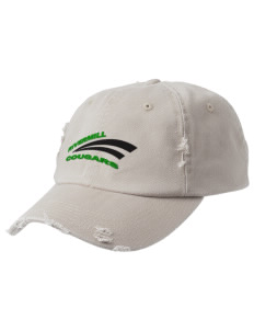 Rivermill Elementary School Cougars Embroidered Distressed Cap