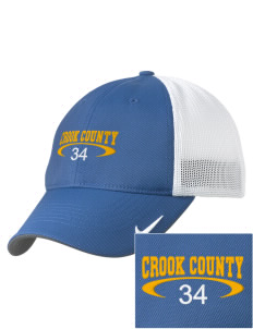 Crook County High School Cowboys Embroidered Nike Golf Mesh Back Cap