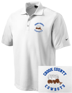 Crook County High School Cowboys Embroidered Nike Men's Dri-FIT Pique II Golf Polo