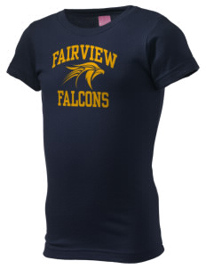 Fairview Elementary School Falcons  Girl's Fine Jersey Longer Length T-Shirt