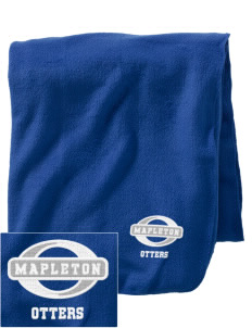 Mapleton Elementary School Otters Embroidered Holloway Stadium Fleece Blanket