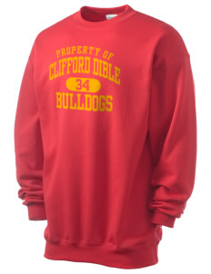 Clifford Dible Elementary School Bulldogs Men's 7.8 oz Lightweight Crewneck Sweatshirt