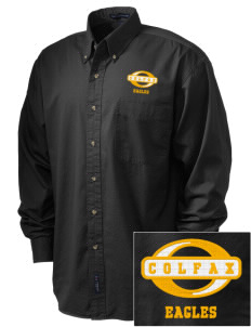 Colfax Elementary School Eagles Embroidered Tall Men's Twill Shirt