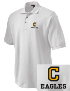 Colfax Elementary School Eagles Embroidered Tall Men's Pique Polo