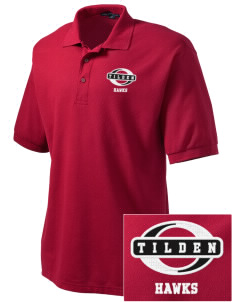 Tilden Elementary School Hawks Embroidered Men's Silk Touch Polo