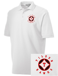 Tilden Elementary School Hawks Embroidered Men's Performance Plus Pique Polo