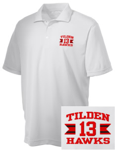 Tilden Elementary School Hawks Embroidered Men's Double Mesh Polo