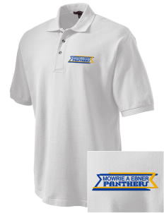 Mowrie A Ebner Elementary School Panthers Embroidered Tall Men's Pique Polo