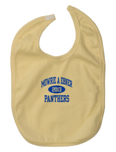 Mowrie A Ebner Elementary School Panthers Baby Interlock Bib