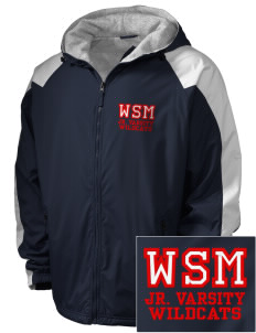 Walter S Miller Elementary School Wildcats Embroidered Holloway Men's Weather Resistant Full-Zip Jacket