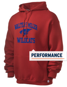 Walter S Miller Elementary School Wildcats Russell Men's Dri-Power Hooded Sweatshirt