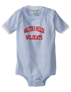 Walter S Miller Elementary School Wildcats Baby One-Piece with Shoulder Snaps