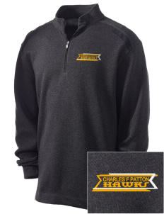 Charles F Patton Middle School Hawks Embroidered Nike Men's Golf Heather Cover Up