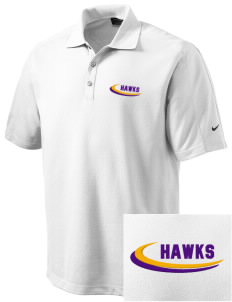 Charles F Patton Middle School Hawks Embroidered Nike Men's Dri-FIT Pique II Golf Polo