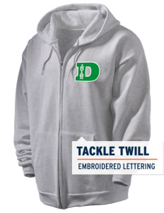 Donegal Middle School Indians Men's Full Zip Hooded Sweatshirt with Tackle Twill